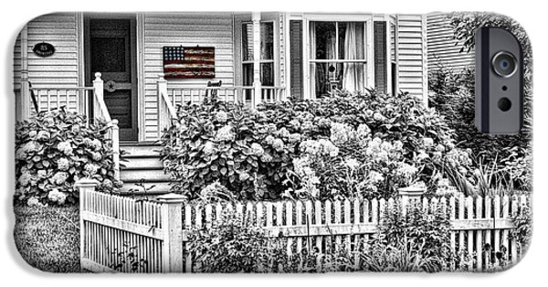 Chatham Digital Art iPhone Cases - Patriotic Entrance iPhone Case by Jayne Carney