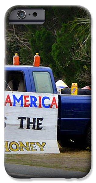 Patriotic Honey Salesman iPhone Case by Carla Parris