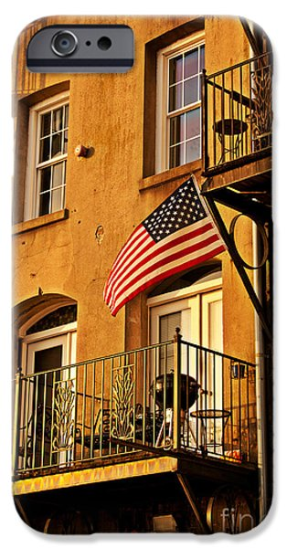 Patriotic Savannah iPhone Cases - Patriotic iPhone Case by M J Glisson