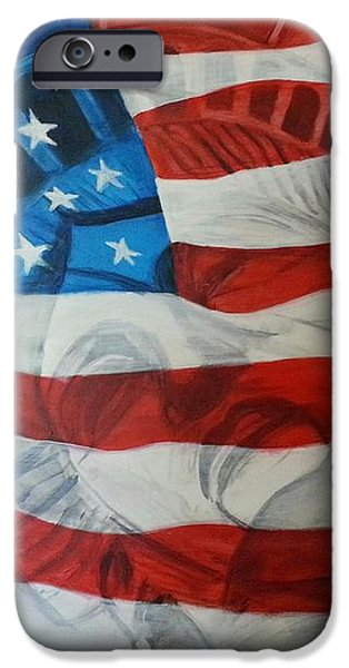 Patriotic iPhone Case by Michelley Fletcher