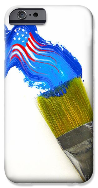 Patriotic Paint iPhone Case by Diane Diederich