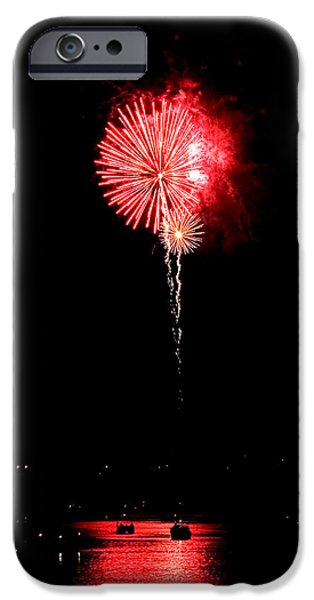 Patriotic Red Reflections iPhone Case by Gene Walls