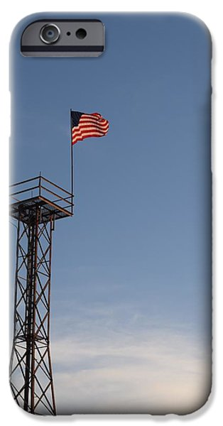 Patriots iPhone Cases - Patriotic Watch Tower iPhone Case by Mark Mitchell