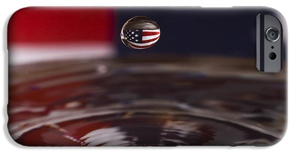 Independance Photographs iPhone Cases - Patriotic Water Drop iPhone Case by Anthony Sacco