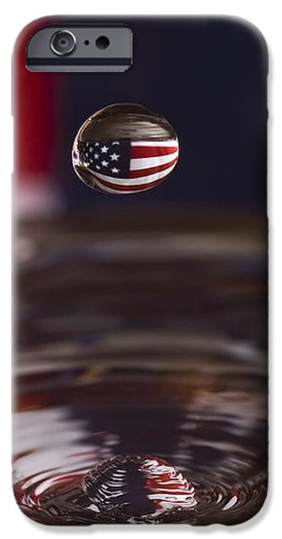 Patriotic Water Drop iPhone Case by Anthony Sacco