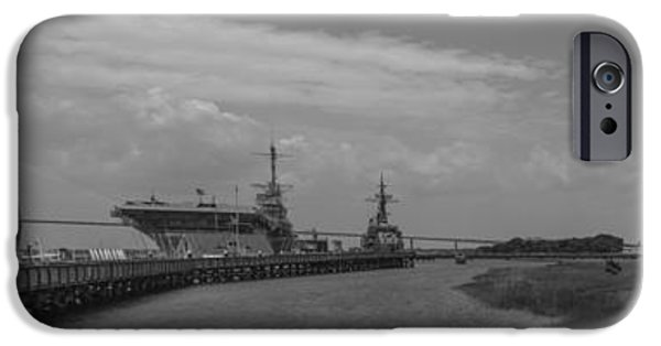 Yorktown iPhone Cases - Patriots Point Panorama iPhone Case by Dale Powell