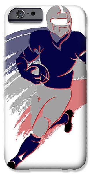 Patriots iPhone Cases - Patriots Shadow Player2 iPhone Case by Joe Hamilton