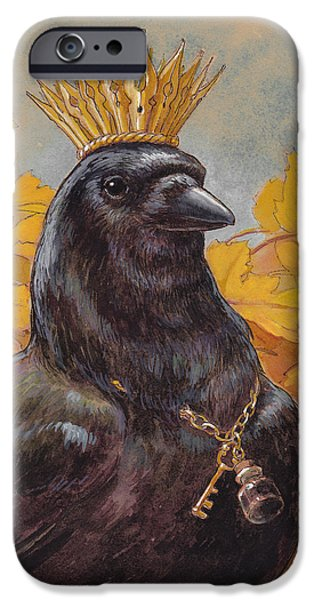 Corvid iPhone Cases - Patron Saint of Storytellers iPhone Case by Tracie Thompson