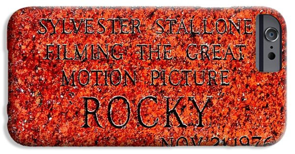 Sly iPhone Cases - Pats Steaks - Rocky Plaque iPhone Case by Benjamin Yeager