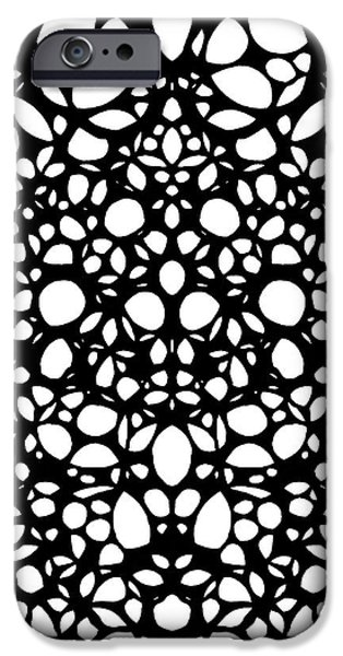 Laces iPhone Cases - Pattern 1 - Intricate Exquisite Pattern Art Prints iPhone Case by Sharon Cummings