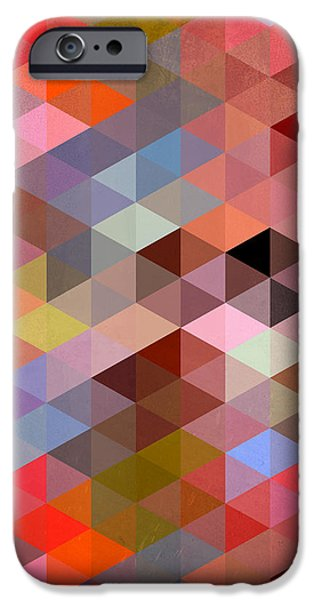 Animation iPhone Cases - Pattern Of Triangle iPhone Case by Mark Ashkenazi