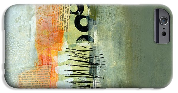 Abstract iPhone Cases - Pattern Study Nuetral 1 iPhone Case by Jane Davies