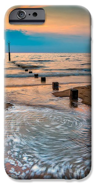 Patterns on the Beach  iPhone Case by Adrian Evans