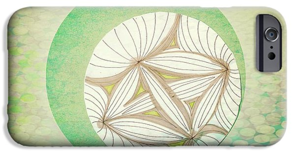 Abstract Collage Drawings iPhone Cases - Patterns iPhone Case by Victoria Fischer