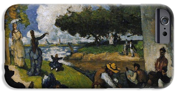 19th Century Photographs iPhone Cases - Paul Cezanne 1839-1906. The Fishermen Fantastic Scene. Ca. 1875 iPhone Case by Bridgeman Images