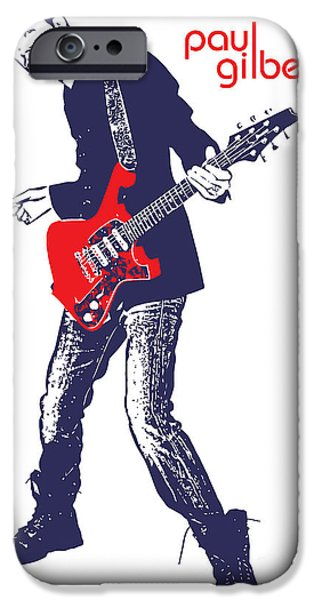 Paul Gilbert No.01 iPhone Case by Caio Caldas