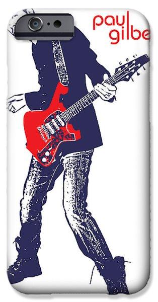 Paul Gilbert No.01 iPhone Case by Caio Caldas