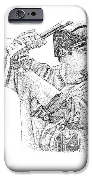 Baseball Glove iPhone Cases - Paul Konerko iPhone Case by Joe Rozek