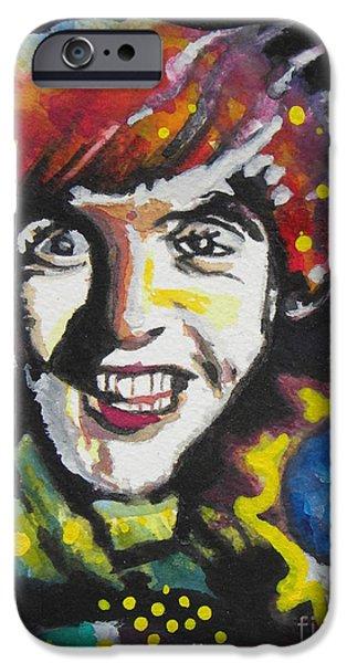 Beatles iPhone Cases - Paul McCartney 02 iPhone Case by Chrisann Ellis