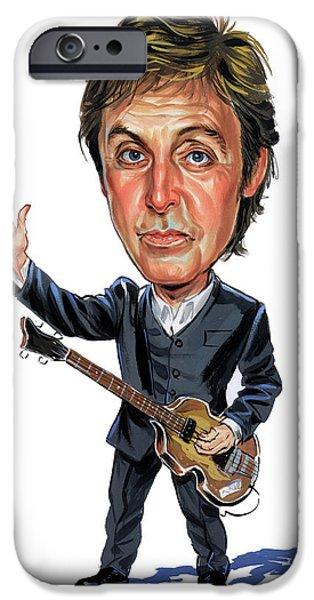 Paul McCartney iPhone Case by Art