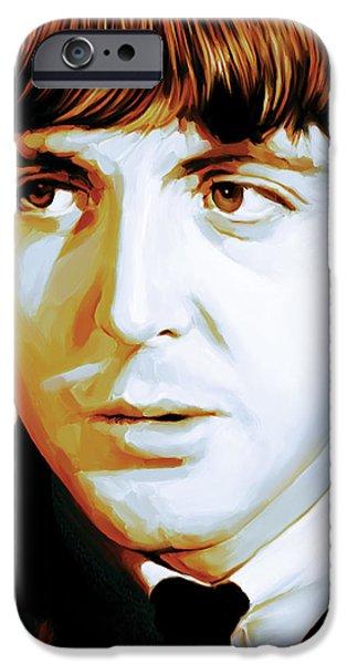Beatles iPhone Cases - Paul McCartney Artwork iPhone Case by Sheraz A