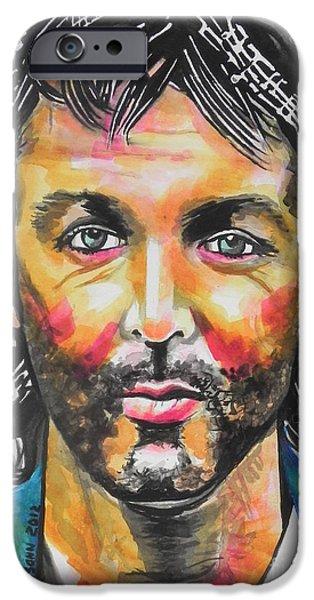 Beatles iPhone Cases - Paul McCartney iPhone Case by Chrisann Ellis
