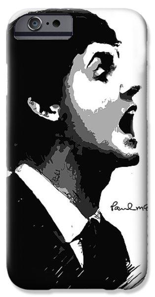Paul McCartney No.01 iPhone Case by Caio Caldas