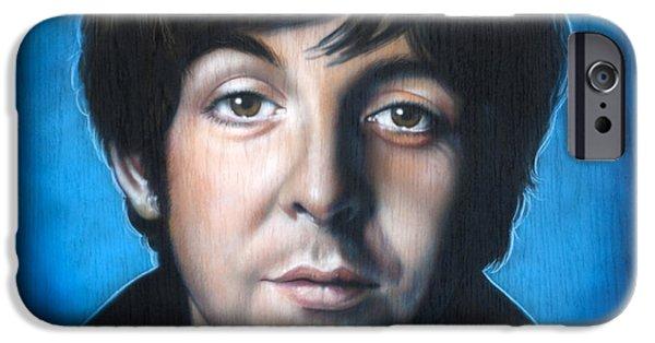 Beatles iPhone Cases - Paul McCartney iPhone Case by Tim  Scoggins