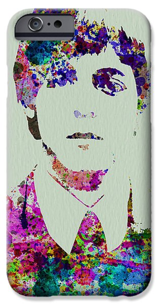 John Lennon Paintings iPhone Cases - Paul McCartney Watercolor iPhone Case by Naxart Studio