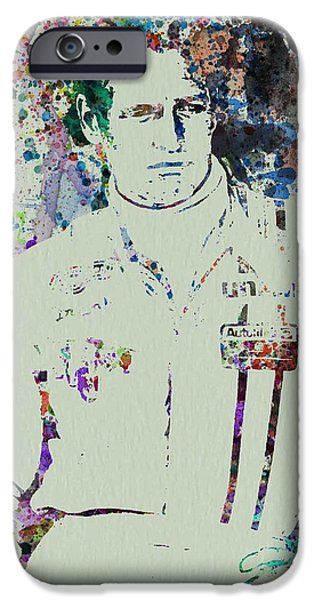 Paul Paintings iPhone Cases - Paul Newman  iPhone Case by Naxart Studio