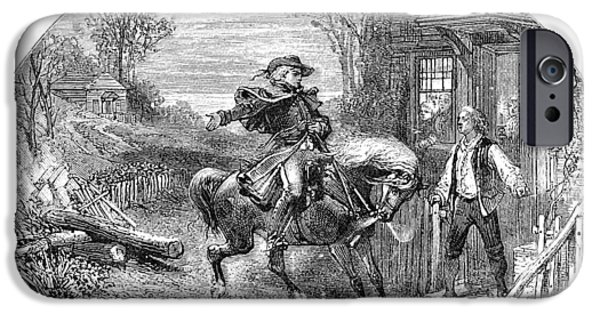 American Revolution iPhone Cases - Paul Revere, 1775 iPhone Case by Granger