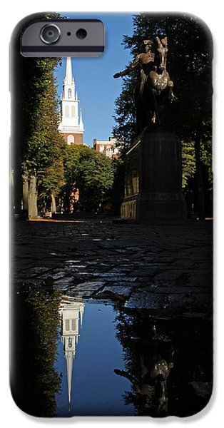 Historic Site iPhone Cases - Paul Revere and the Old North Church iPhone Case by Juergen Roth