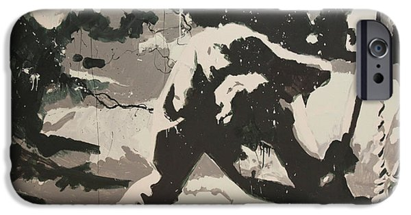 Visual iPhone Cases - Paul Simonon Of The Clash iPhone Case by Dustin Spagnola