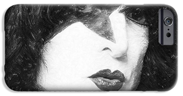 American Pastels iPhone Cases - Paul Stanley iPhone Case by Antony McAulay