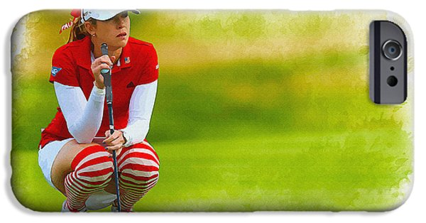 Michelle iPhone Cases - Paula Creamer - the Ricoh Women British Open iPhone Case by Don Kuing