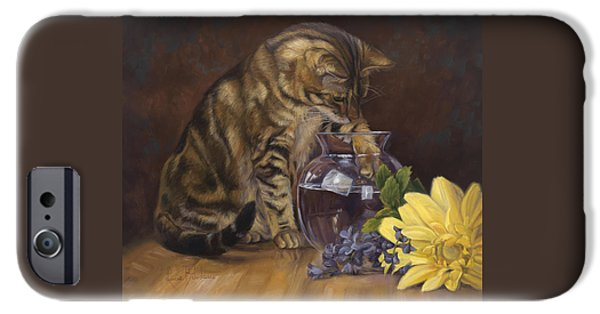Crystal iPhone Cases - Paw in the Vase iPhone Case by Lucie Bilodeau
