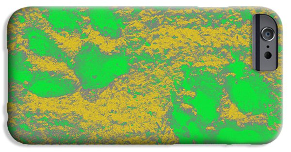 Puppy Digital iPhone Cases - Paw Prints in Yellow and Lime iPhone Case by Dorothy Berry-Lound