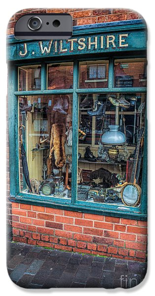 1840 iPhone Cases - Pawnbrokers Shop iPhone Case by Adrian Evans
