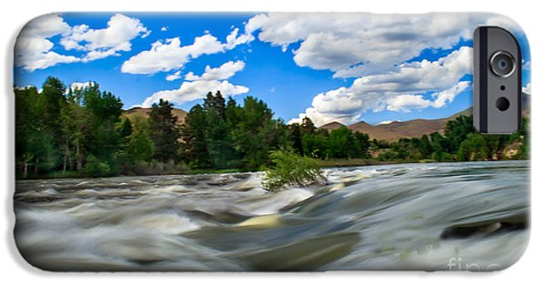 Silk Water iPhone Cases - Payette River iPhone Case by Robert Bales