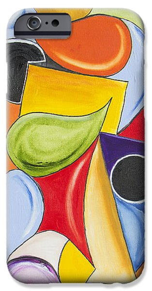 Abstract Expressionist iPhone Cases - Paying Attention iPhone Case by Ilona Montel