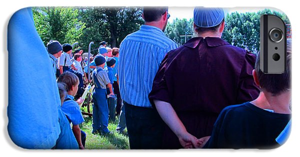 Amish Community Photographs iPhone Cases - Paying Attention iPhone Case by Tina M Wenger