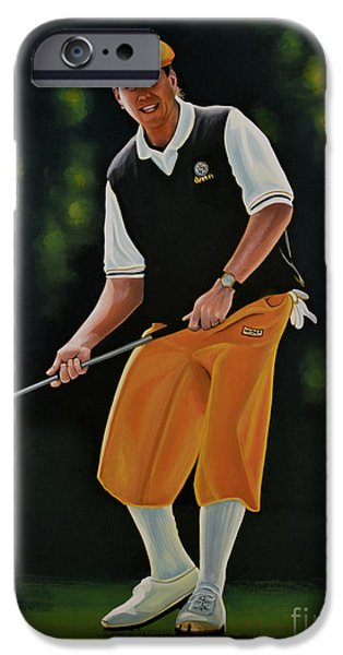 Golfing iPhone Cases - Payne Stewart iPhone Case by Paul  Meijering