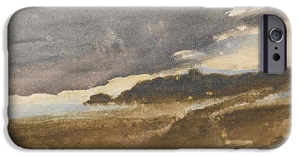 Delacroix iPhone Cases - Paysage De Bord De Mer iPhone Case by Celestial Images