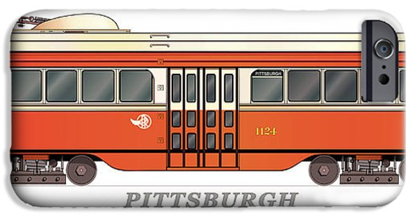 Pcc iPhone Cases - PCC Trolley circa 1936 iPhone Case by Carlos F Peterson