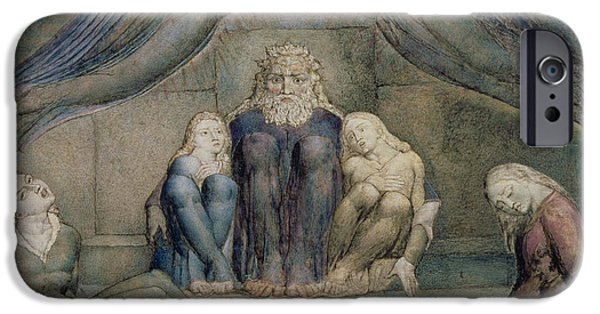 Punishment iPhone Cases - Pd.5-1978 Count Ugolino And His Sons iPhone Case by William Blake