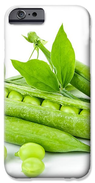 Pea pods and green peas iPhone Case by Elena Elisseeva