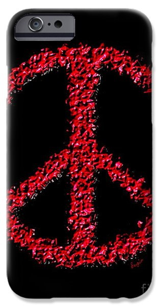 Iraq Paintings iPhone Cases - Peace ? iPhone Case by Sergio B