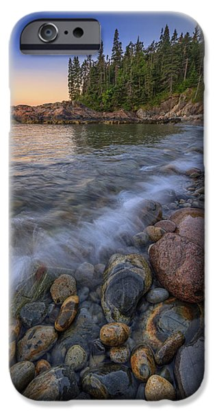Maine Beach iPhone Cases - Peace and Quiet iPhone Case by Rick Berk