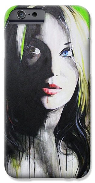 Hand Paint Brushed iPhone Cases - Peace iPhone Case by Christian Chapman Art