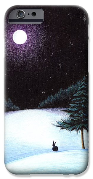 Wintry Drawings iPhone Cases - Peace iPhone Case by Danielle R T Haney